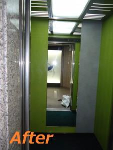 マンションエレベーター鏡2